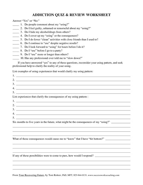 17 best images of and substance abuse worksheets