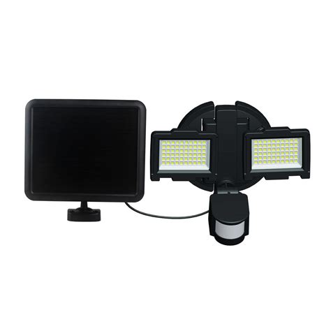 defiant 48 light white outdoor solar led motion light