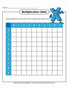 Blank Multiplication Worksheet - lattice multiplication ...