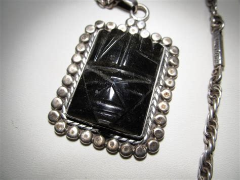 taxco  bustos myan sterling silver necklace wc