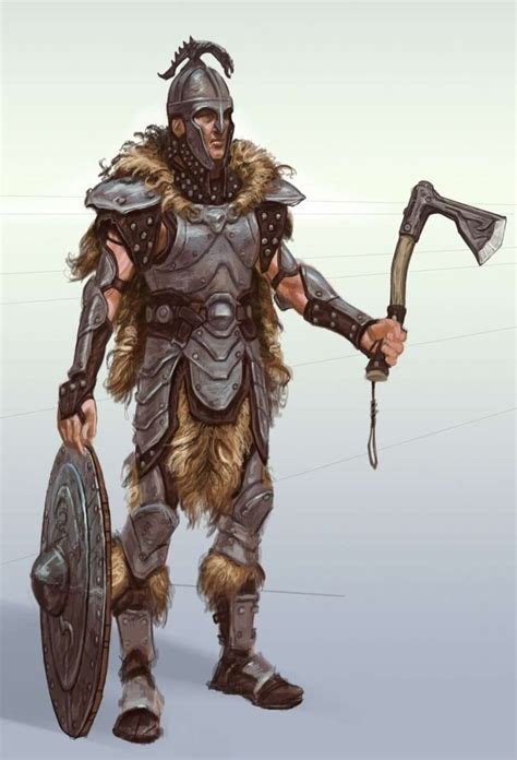 Steel Armor Concept Art From The Elder Scrolls V Skyrim