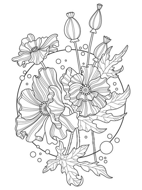Pin by M Mitchell on Sketch | Tattoo stencils, Poppies, Coloring books