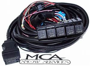 Boss Snow Plow 13 Pin 5 Relay Wiring Harness Ford Truck Msc08001