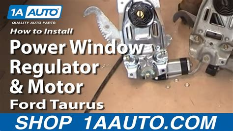 install replace power window regulator  motor