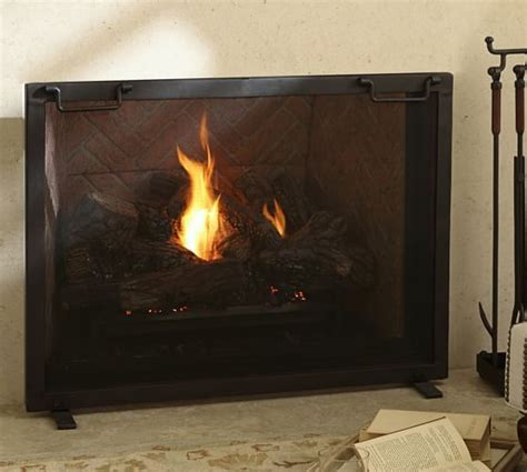 pottery barn fireplace screen 1000 ideas about industrial fireplace screens on