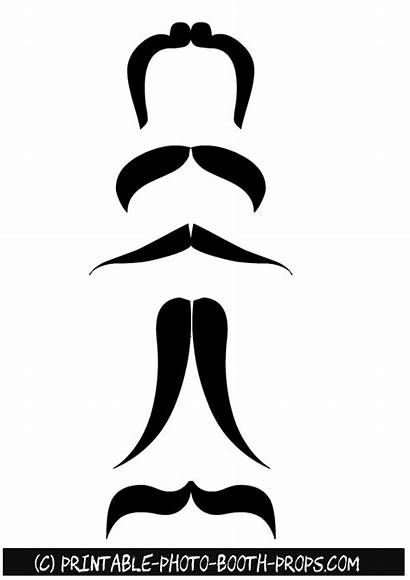 Booth Printable Moustaches Props
