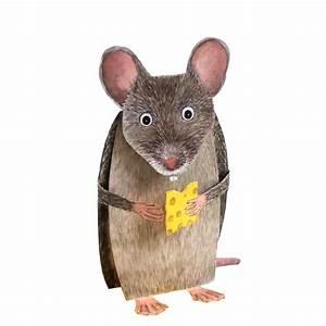 Maus In Wohnung : dreidimensionale grusskarte maus mit k se ~ Markanthonyermac.com Haus und Dekorationen