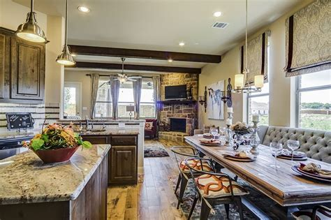 kitchen cabinets dallas area gehan homes kitchen country chic dark wood cabinets