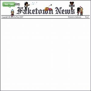 fake news template gif by faketown photobucket With fake newspaper template