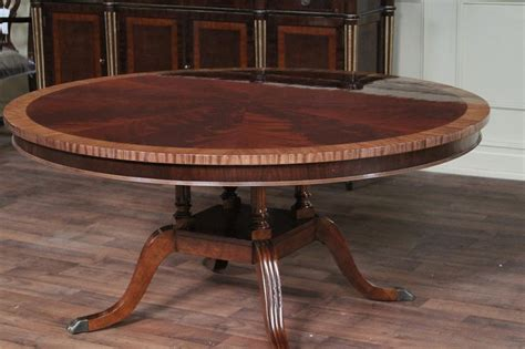 round wood dining room table 60 quot round mahogany dining table single pedestal dining