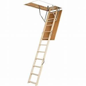 Escalier Escamotable Grenier : escalier escamotable droit structure bois marche bois ~ Melissatoandfro.com Idées de Décoration