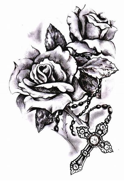 Tattoo Rose Cross Tattoos Rosary Roses Crosses