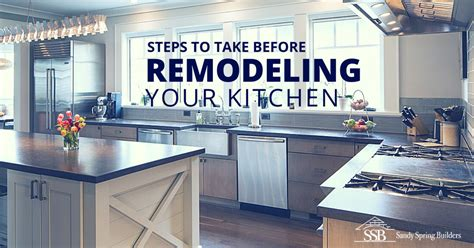 how does it take to remodel a kitchen steps to take before remodeling your kitchen