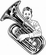 Tuba Clipart Sousaphone Drawing Playing Player Clip Coloring Instrument Openclipart Brass Publicdomainvectors Vector Instruments Google Collaboration Da Orchestra Getdrawings Psf sketch template