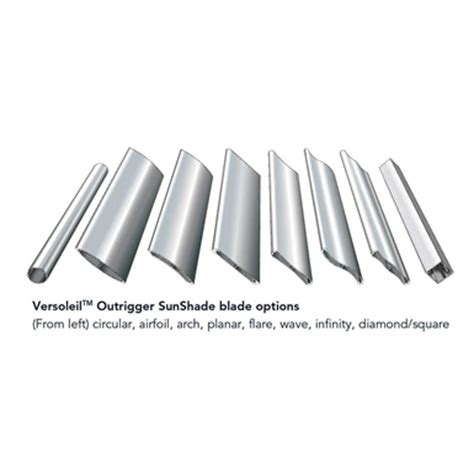 versoleil sunshade outrigger system for curtain wall