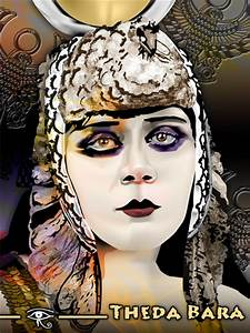 Theda Bara as Cleopatra -Color by eyeqandy on deviantART