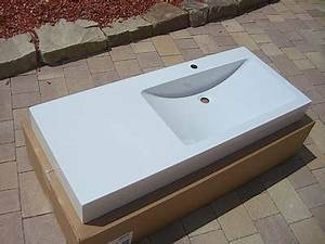 Waschbecken Mit Ablage : alape waschbecken 120cm version rechts wt gr1200h l wei ~ Lizthompson.info Haus und Dekorationen