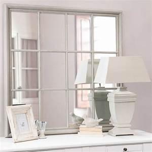 Miroir En Bois Gris H 120 Cm CAMARGUE Maisons Du Monde