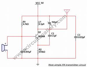 Most Simple Fm Transmitter Circuit Diagram