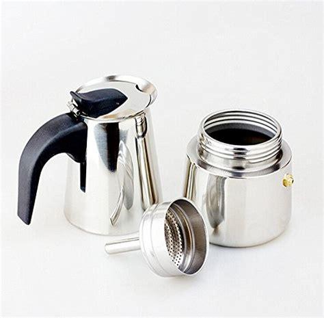 btbestop stainless steel stovetop moka pot espresso coffee maker 9 cups coffee pigs