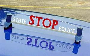 The Michigan State Police Car - Side Stop