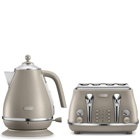 delonghi toaster and kettle de longhi elements kettle and four slice toaster beige