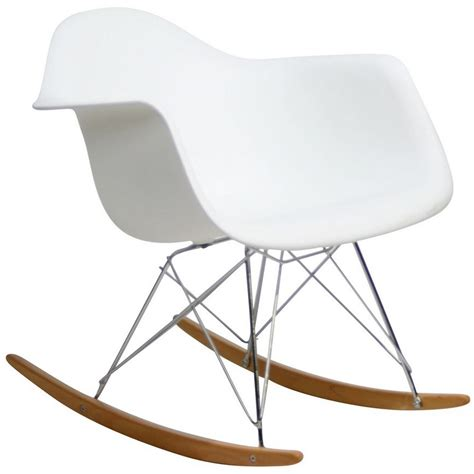 rocker molded plastic rocking lounge chair with chrome
