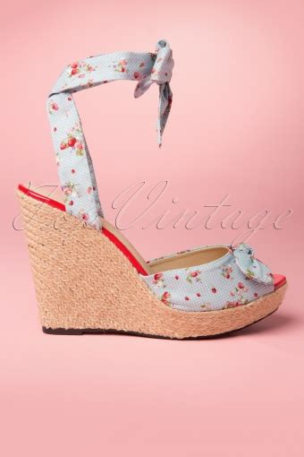 melissa wedge sandals  blue