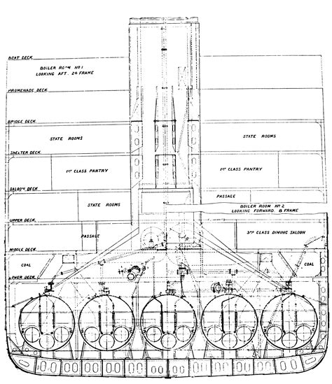 titanic deck plans with room numbers titanic boiler room plans and systems