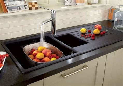 black granite sink kitchenidease