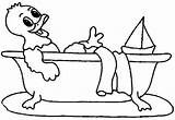 Bath Coloring Pages Bathroom Animated Bathtub Template Cartoon Taking Bird Printable Getcoloringpages sketch template