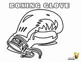Coloring Boxing Glove Gloves Template Colouring Pro Cool Yescoloring Boys Athletes sketch template