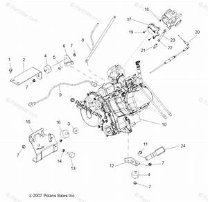 Polaris Side By Side 2008 Oem Parts Diagram For Engine