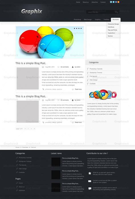 graphstock modern  impressive blog layout layered