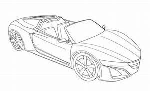 gallery cool sports cars drawing outline drawings art With acura super sport