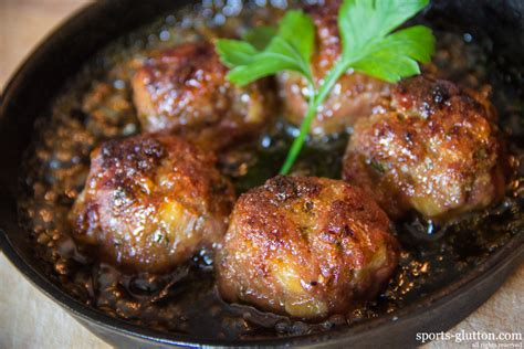 veal recipes tropical quot canonball quot meatballs w sweet rum glaze sportsglutton
