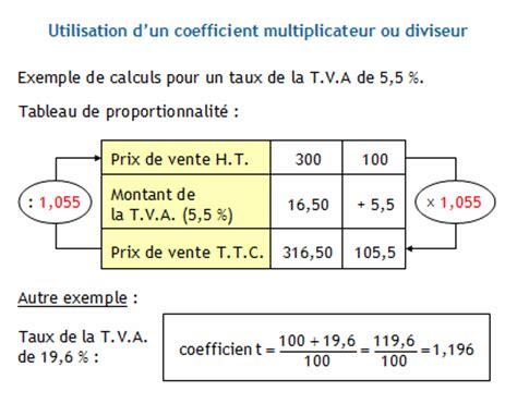 calculer les prix de vente hors taxe et toute taxe comprise le montant de la t v a le taux de