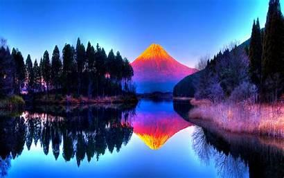 Volcano Backgrounds Desktop Background Wallpapers Cool Reflection