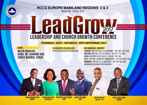 rccg europe region leadgrow  leadership church