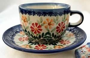 Tasse Mit Stövchen : original bunzlauer keramik tasse mit untertasse dekor adelheid ~ Orissabook.com Haus und Dekorationen