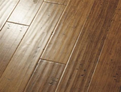 horizontal carbonized bamboo flooring   Handscraped Strand