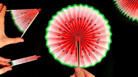 basteln mit papier wassermelonen faecher selber machen diy life hacks gegen langeweile