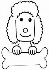 Poodle Coloring Pages Animal Poodle2 sketch template