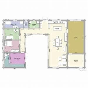 Plan Maison U : maison en u piscine plan 10 pi ces 181 m2 dessin par ~ Dallasstarsshop.com Idées de Décoration