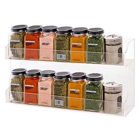 Counter Spice Rack by Clear Acrylic Wall Mounted Counter Top 2 Tier Spice Rack