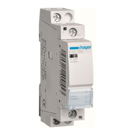 hager esc contactor   pole amp hager electrical