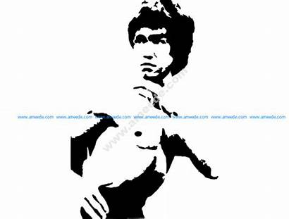 Bruce Lee Dxf Vector Cnc Drawing 3axis