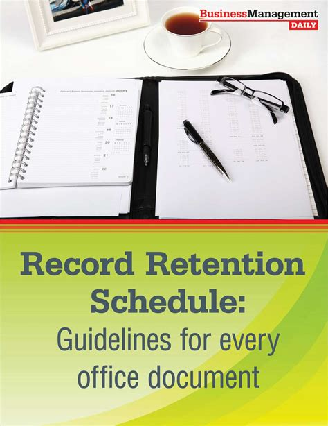 record retention schedule guidelines   office