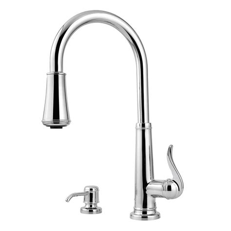 price pfister ashfield kitchen faucet pfister ashfield single handle pull down sprayer kitchen faucet in polished chrome gt529ypc