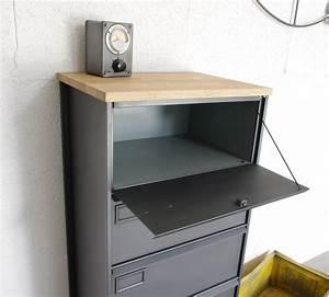 Meuble Rangement Bureau : meuble clapets administratifs m tal restaur meuble de rangement ~ Teatrodelosmanantiales.com Idées de Décoration